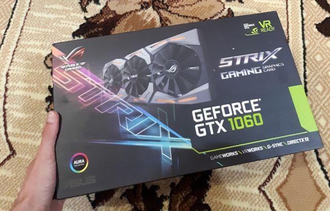Видеокарта ASUS ROG StriX 1060 6GB, состояние новой !