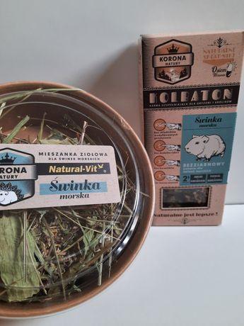 Przysmaki dla świnki morskiej (zioła+kolby)