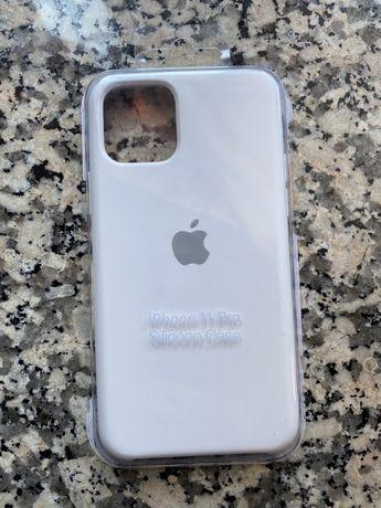Capa iPhone 11 Pro Silicone Branca NOVA