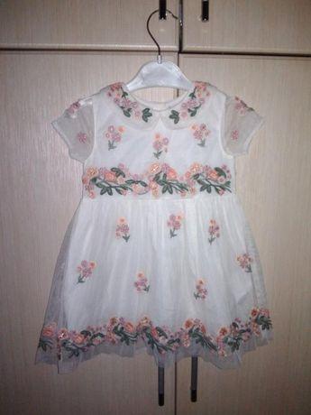 Нежное сказочное платье на малышку next 12-18 мес