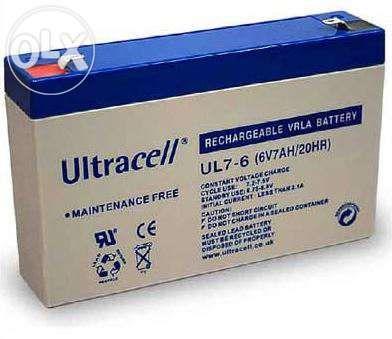 Bateria selada chumbo 6v 7ah nova para carrinhos eletricos