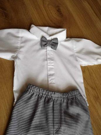 Ubranko do chrztu dla chłopca 68 koszula biała