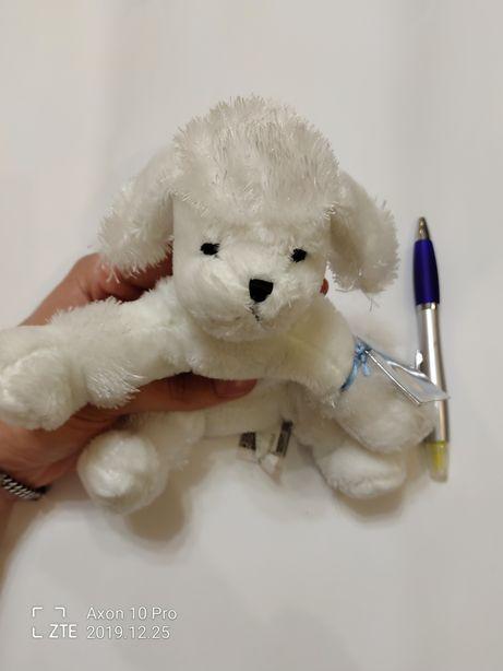 Детская мягкая игрушка белый пудель пёс собака