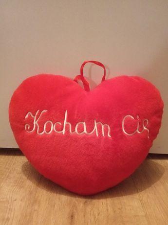 Poduszka-serce z napisem Kocham Cię Walentynki