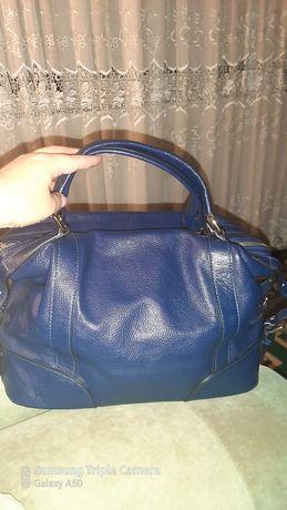 Кожаная  натуральная сумка