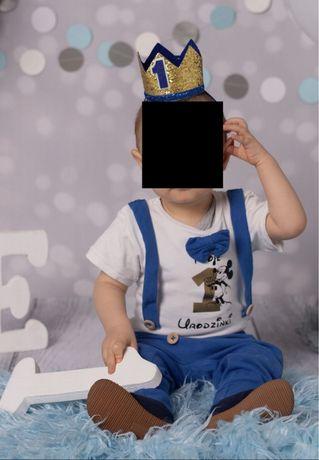 Komplet na roczek Myszka Mickey 86 plus korona