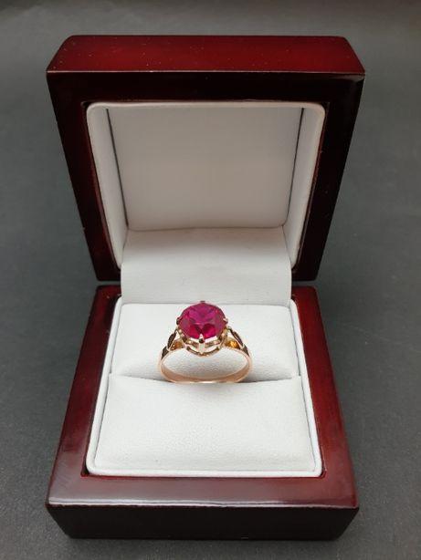 Promienisty złoty pierścionek PR.583 3.71 gr. R.19 - skup biżuterii -