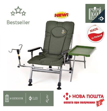Кресло для рыбалки раскладное Elektrostatyk F5R ST\P NEW подлокотники