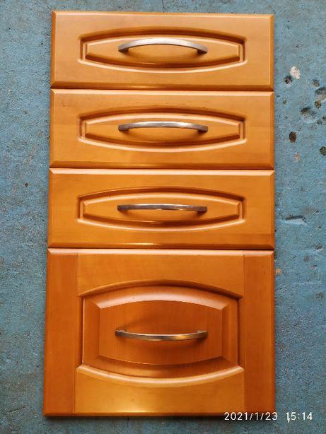 Fronty kuchenne meblowe DREWNIANE komplet 18 sztuk kolor czereśnia