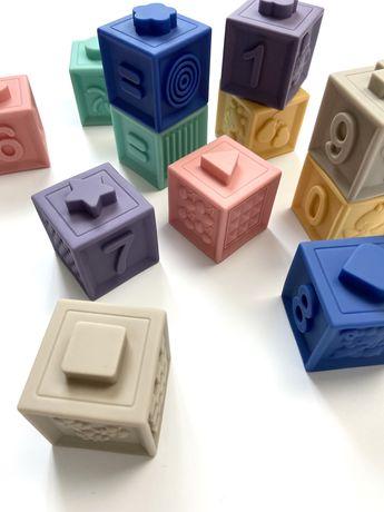 Детские кубики конструктор Развивающие кубики Кубики с цифрами