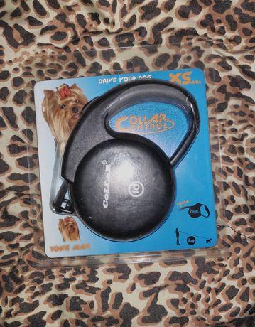 Поводок-рулетка Collar Control XS для собак до 10кг, 3 м Черный