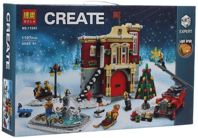 Конструктор Bela 11041 Зимняя пожарная часть (Lego Creator Лего 10263)