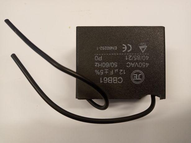 Kondensator rozruchowy silnikowy przewód CBB61 12uF 450VAC 40/85/21