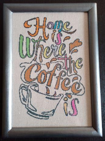 Вышивка крестиком, тематика кофе