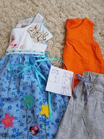 Набор одежки платья футболка юбка на 3 - 4 годика для девочки