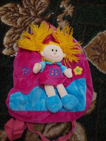 Детский мягкий рюкзак для девочки