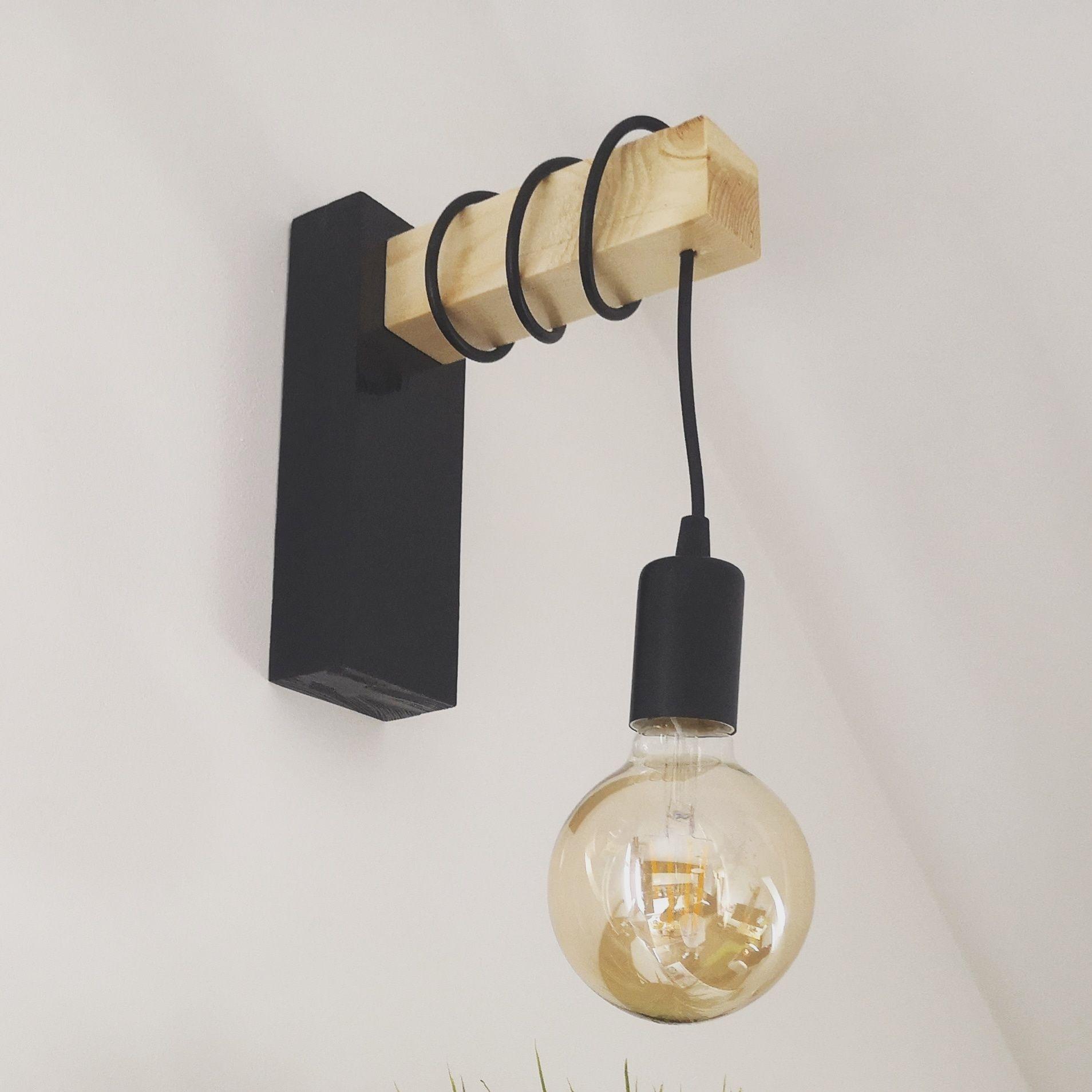 Kinkiet kinkiety lampki drewno handmade