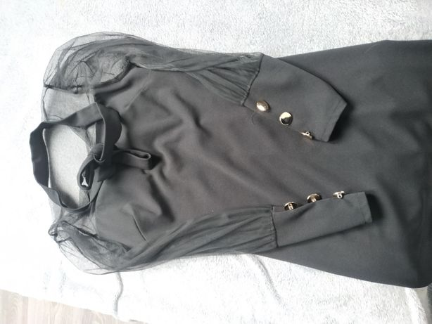 Sukienka czarna z siatką