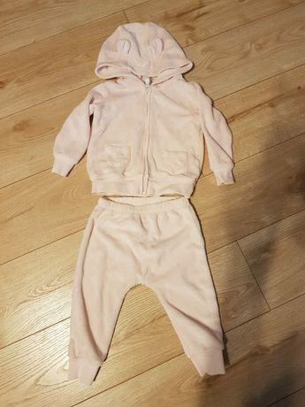 Dres (bluza rozpinana i spodnie) na 9 miesięcy (rozmiar 74cm) - z USA