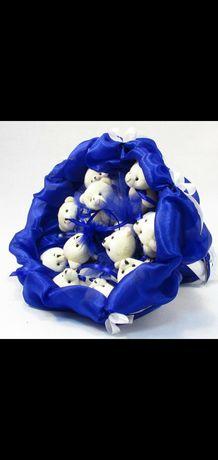 ТОП Букеты 3D из мягких мишек  30 см + 35 см. Лучший подарок любимой