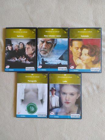 DVD- Czekolada, Nędznicy, Stary człowiek i morze, Pornografia, Lolita