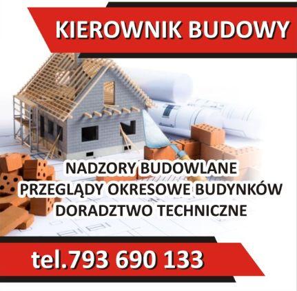 Kierownik budowy, nadzór nad budową domu. Projekty budowlane. Nadzór