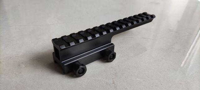 Szyna Ris 22mm podwyższenie montaż Acog ASG M4 AK