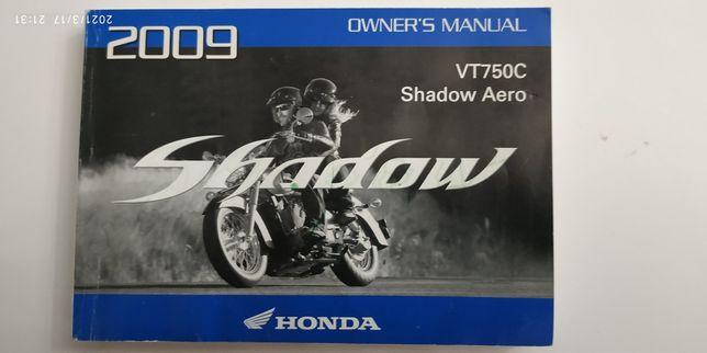 Instrukcja obsługi honda Shadow Aero VT 750C