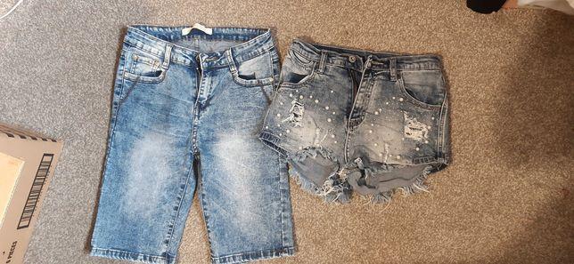 Jeansowe spodenki xs