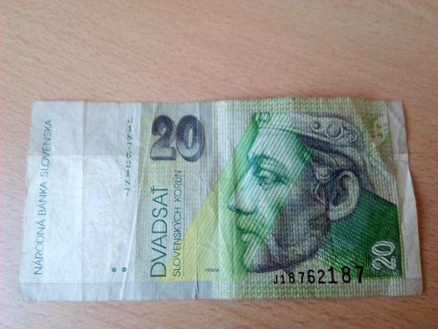 banknot 20 koron słowackich