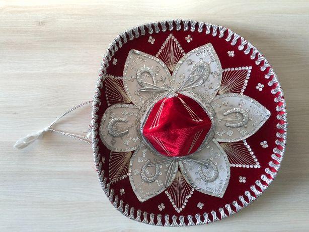 Kapelusz Sombrero oryginalne czerwone