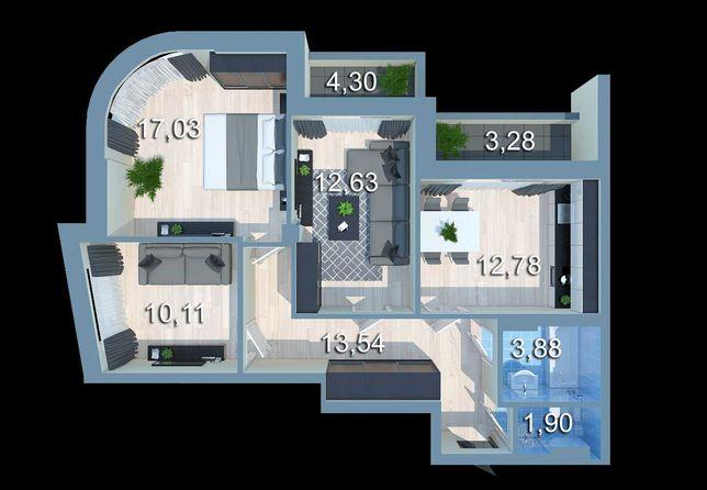 Продам 3 комнатную квартиру с видом на Днепр в ЖК Урловский-2