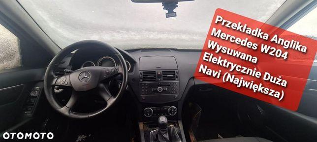 Przekładka Anglika Mercedes W204 Wysuwana Elektrycznie Duża Navi ( Największa)