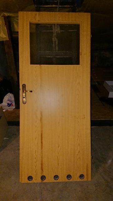 Drzwi wewnętrzne 90 lewe i 80 prawe łazienkowe