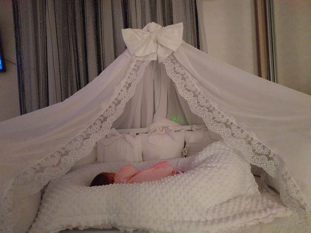 Балдахин,подушки, одеяло,простынь