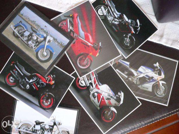 7 postais de motos anos 80