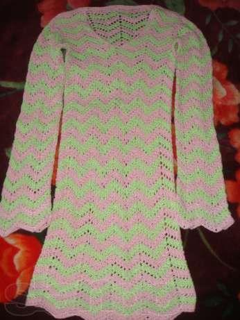 вязаное платье ( летнее)