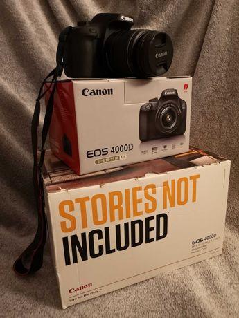 Canon EOS 4000d + obiektyw EF-S 18-55mm f/3.5-5.6 lll + torba + inne