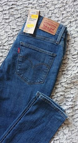 Nowe jeansy Levi's Levis model 721 rurki high rise skinny rozm. 27