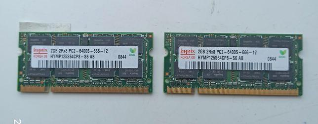 Pamięć ram DDR2 do laptopa 2GB 2Rx8 PC2-6400S-666-12 HYMP125S64CP8-S6