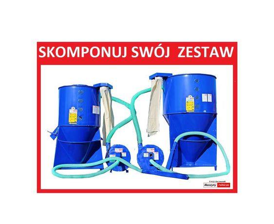 ZESTAW PASZOWY mieszalnik pasz 1,2 t+ śrutownik ssący 11 kW Transport