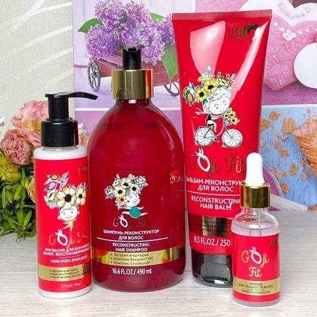 Набор для волос Goji fit bio world (шампунь +бальзам +флюид +эмульсия)