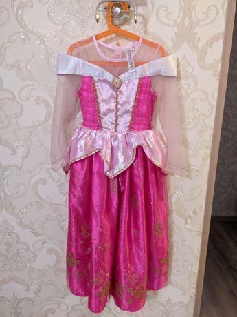 Карнавальное платье Аврора Спящая красавица 7 лет