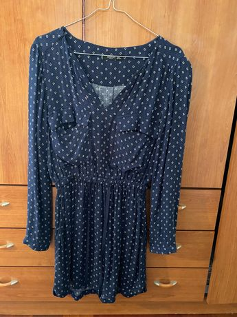 Vestido azul - Mango