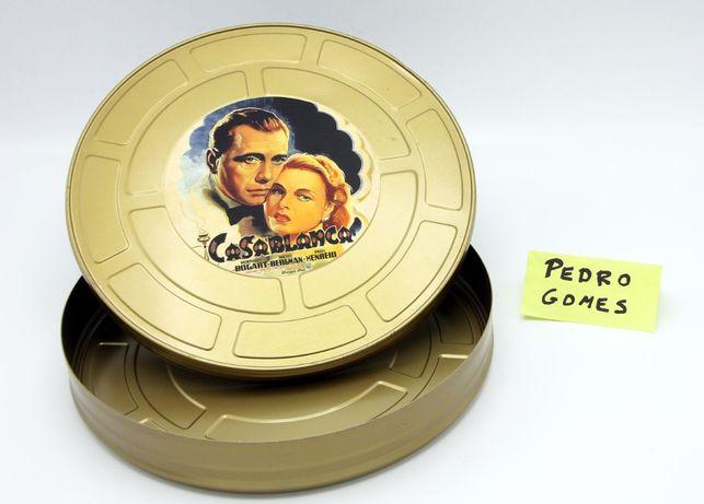 Lata de Cinema FILME CASABLANCA película antiga 35mm com 28cm diametro