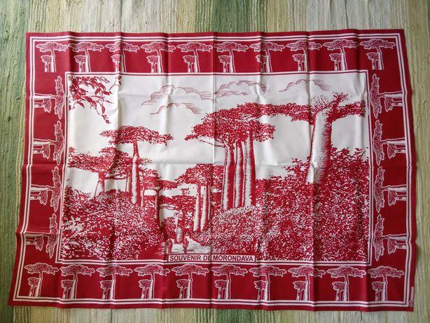 Madagaskar, 2 wzory, tkanina, lambahoany, baobaby, obrus, zasłona