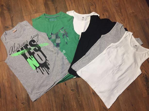 Koszulki bez rękawów chłopięce 6 szt r. 146