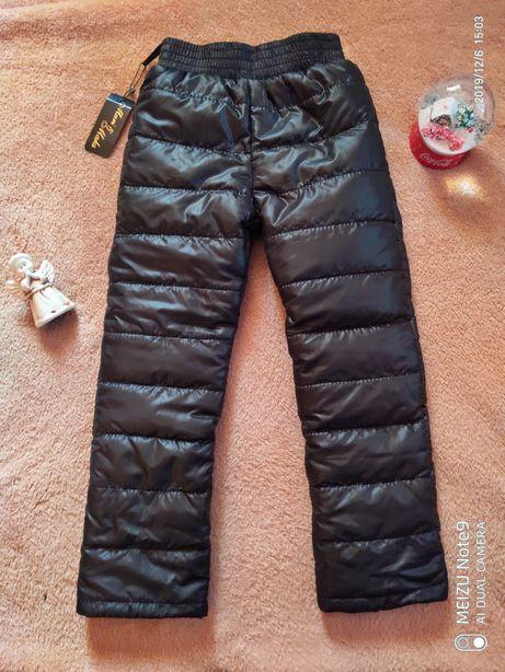 Зимние штаны на флисе, термоштаны, тёплые штаны, на рост 92-152 см