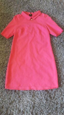 Sukienka różowa kołnierzyk 36