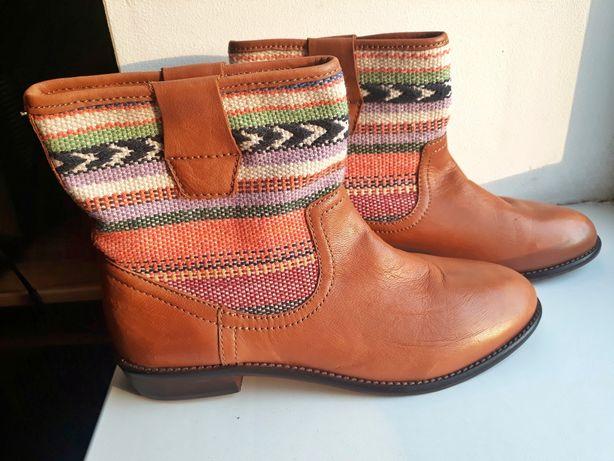 Ботинки/полусапожки кожаные женские Divided H&M